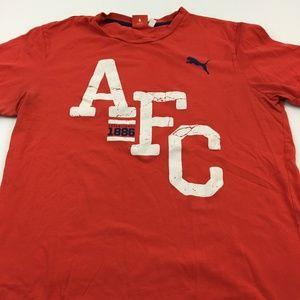 Puma AFC Tee Graphic T Shirt L Sports Gym Red